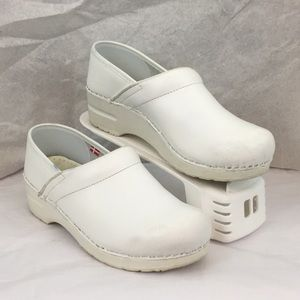 Sanita white clogs